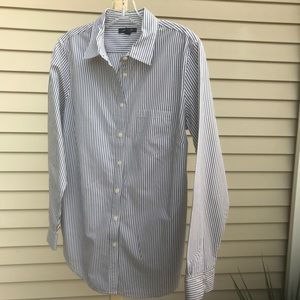 Lands End - striped shirt (Gray/white), Size 10
